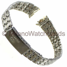 12mm Milano Stainless Steel Center Clasp Watch Band