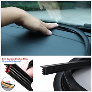 Upgrade Car Rubber Sound Seal Strip 1.6M U-Type Dashboard Edges Sealing Strips
