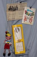 "BOXED SET:DISNEY1962""PINOCCHIO SL VS.""PELHAM PUPPET+INSTRUCTIONS+PELHAM BOOKLET"