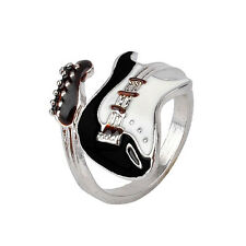 Women Guitar Punk Rings Charm Colorful Guitar Ring Musical Finger Ring ATA_ws