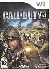 CALL OF DUTY 3 for Nintendo Wii - with box & manual - PAL
