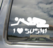 I Heart Sushi - Funny Humor Love - Car Window Vinyl Die-Cut Decal Sticker 02018