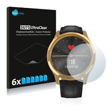 6x Displayschutzfolie für Garmin vivomove Luxe (42 mm) Klar Schutzfolie