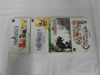 X5166 Super Famicom Final Fantasy IV V VI Chrono Trigger set FF SFC SNES w/box