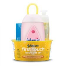 Johnson's First Touch Gift Set, Baby Bath Skin Products, 5 items