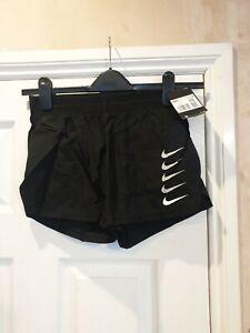 Ladies Nike Standard Fit Shorts. Running. Black. XS BNWT