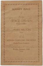 George GERSHWIN (Composer): Signed Program