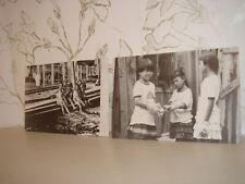 Two Collectible Postcards Black and White Photography Images Children Thailand