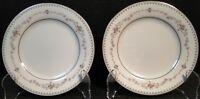 """Noritake Fairmont Bread Plates 6102 6 3/8"""" Set of 2 Excellent"""