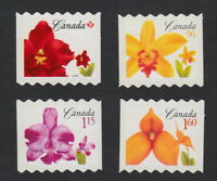 FLOWERS Die Cut to Shape Coil stamps Canada 2007 #2244ii-47ii MNH