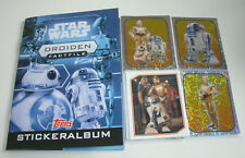 Topps Star Wars factfiles sticker droides-album + todos 84 sticker