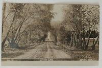 Lovers Lane Albion Nebraska Vintage Sepia RPPC Real Photo Postcard Stamped 1908