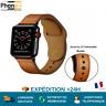 2019 Bracelet remplacement pour Apple Watch 1 2 3 4 5 Simili cuir Noir & Marron
