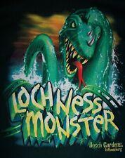 Vtg Busch Gardens Loch Ness Monster Roller Coaster Green Graphic T-Shirt Size Xl