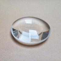 1PC Optische Brennweite Optik Doppelte konvexe Glaslinse Lupe 30-127mm