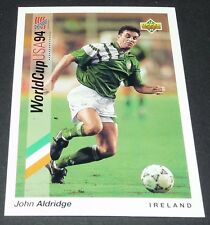 ALDRIDGE TRANMERE IRELAND EIRE FOOTBALL CARD UPPER DECK USA 94 PANINI 1994