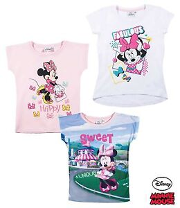 Disney Minnie Mouse Shirt kurzarm 104 116 128 134 140