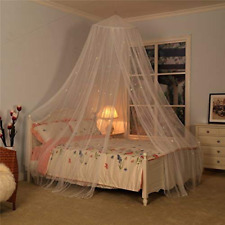 Bed Canopy w Fluorescent Glow in Dark Stars Mosquito Netting