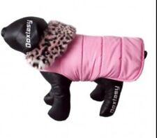 Doxtasy Hundemantel gefüttert Hundejacke Hundepullover rosa S Winter Herbst