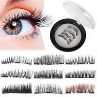 Natural 3D Triple Mink Magnetic False Eyelashes Handmade Glue-Free Magnet Eye
