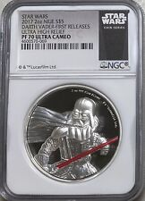 2017 Niue   Star Wars: Darth Vader   2oz  Ultra High Relief   NGC PF70 UC FR