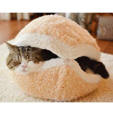 Shell Dog Cat Pet Sleeping Bed Bag Nest House Kennel Hamburger Warm Hiding Cute