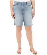 NYDJ Briella Cuffed Denim Bermuda Shorts Manhattan Beach Wash NWT 24W