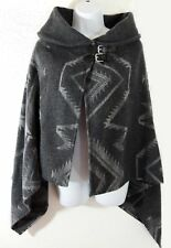 Ralph Lauren Leather Buckle Equestrian Indian Wrap Lamb Wool Cape Poncho Sweater