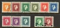NEW ZEALAND....  1954  QE11 set  OFFICIAL incls overprints  used....cv $75