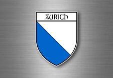 Sticker decal souvenir car coat of arms shield city flag switzerland zurich