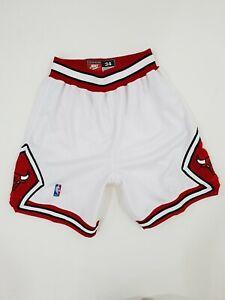 Nike Authentic Chicago Bulls Shorts Size 34 White Jordan Pippen Last Dance
