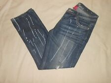 New listing Almost Famous - Distressed Paint Splatter Denim Blue Jeans Cropped Pants- Size 7