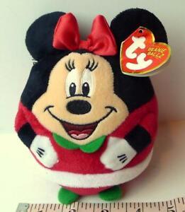 Minnie Mouse Christmas Ty Beanie Ballz 2013 Beanbag Plush Toy