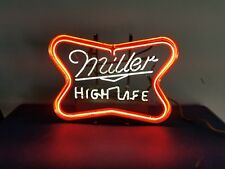 (Vtg) 1960s miller high life light beer flashing neon light up bar sign rare