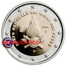 2 Euro Commémorative Italie 2020 - Sapeurs Pompiers UNC NEUVE