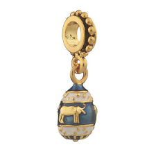 Faberge Egg Pendant / Charm 2.7 cm blue #1555-11