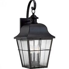 Quoizel outdoor wall porch lights ebay quoizel mhe8410k millhouse 3 light 22 inch mystic black outdoor wall lantern workwithnaturefo