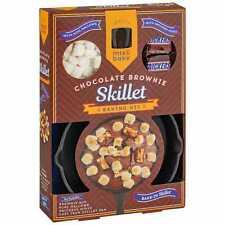 Snickers Chocolate Brownie Skillet Gift Set Baking Kit Cake Pan Mallows