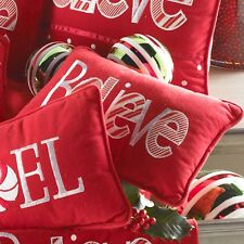 Red Believe Pillow by KK Interiors, Inc #51141C