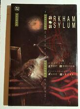 1989 Batman Arkham Asylum by Dave McKean Hc/Dj Nm/Vf 1st Printing Dc