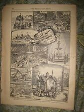 ANTIQUE 1883 CHICAGO ILLINOIS INDUSTRIAL EXPOSITION PRINT MACHINERY INDUSTRY NR