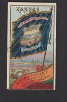 1888 Allen & Ginter N11 Flags of States & Territories Kansas