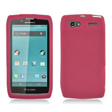 For Motorola Electrify 2 Rubber SILICONE Skin Soft Gel Case Phone Cover Hot Pink