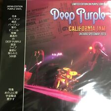 DEEP PURPLE  California Jam  - Ontario Speedway 1974 Purple Vinyl Lp New