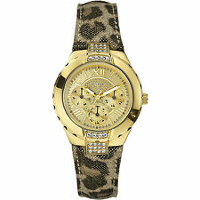 GUESS W0023L1 Time to Give Damenuhr Edelstahlgehäuse gold - UVP 229 EUR