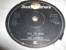 "Leif Garrett ""sienten la necesidad"" 7"" Single Excelente 1979 K11274"