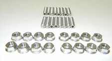 """Big Block Chevy BBC 2"""" Long Stainless Steel Header Studs 396 402 427 NEW"""