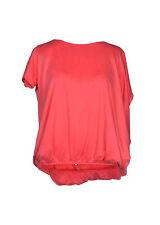 LIU JO T-shirt  scollatura ampia sul retro catena colore oro in SALDO