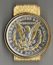 J&J Coin Jewelry U.S. Morgan Silver Dollar (Reverse) Money Clip/Made in USA