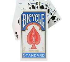 Blank Back Bicycle Blue Box Gaff Deck Regular Index Magic Trick Playing Cards